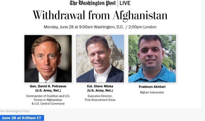 Washington Post Live Event Featuring Gen. David Petraeus and Col. Steve Miska